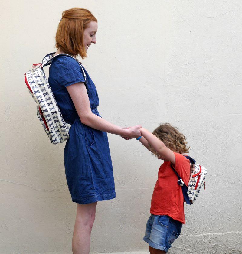Diaper bag rucksacks from Pink Lining