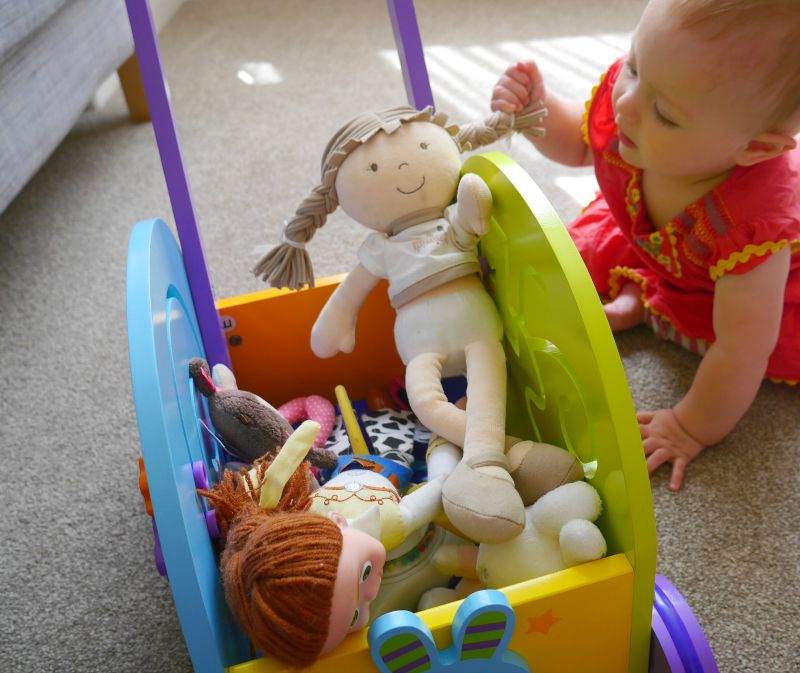 Wooden baby walker toys