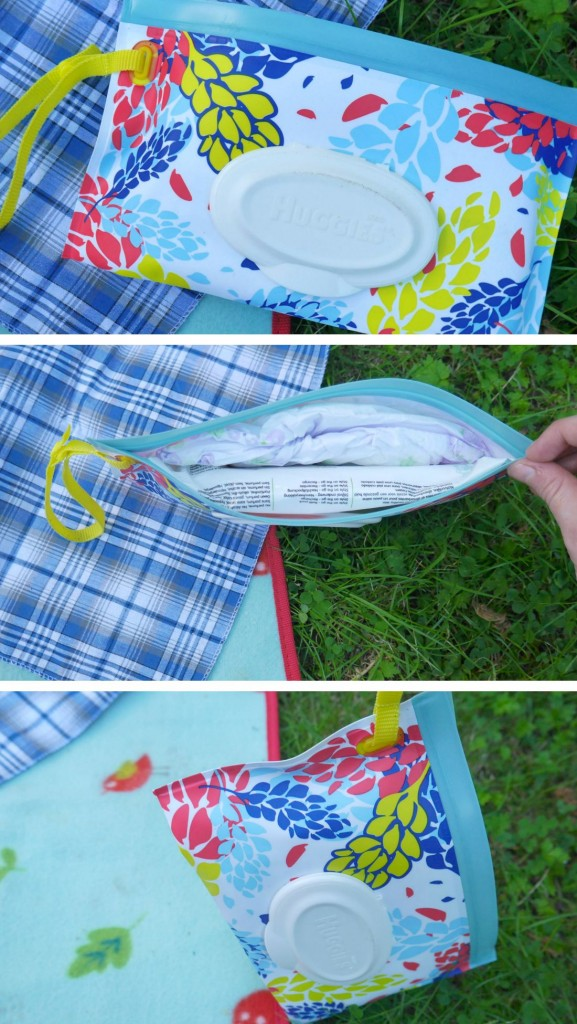 Huggies Wipes pouch hack - a quick trick for style on the go pouches