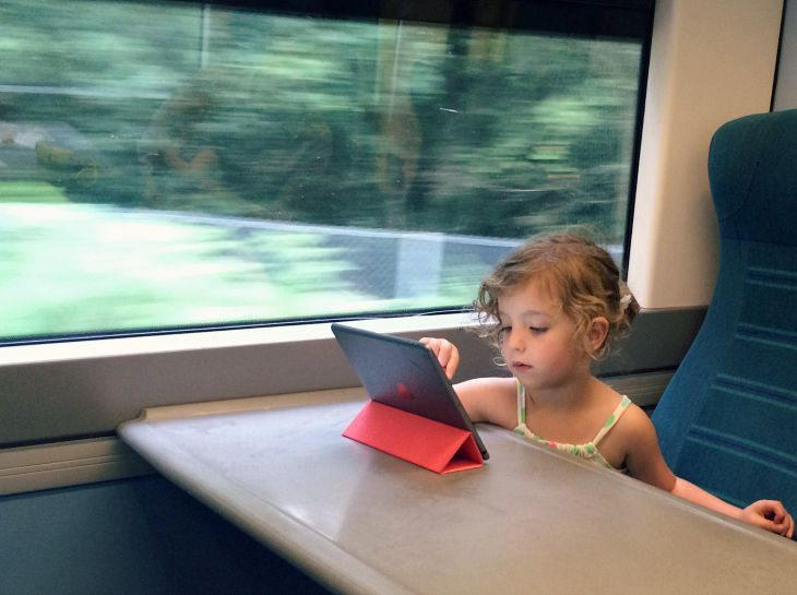 Train travel with toddlers