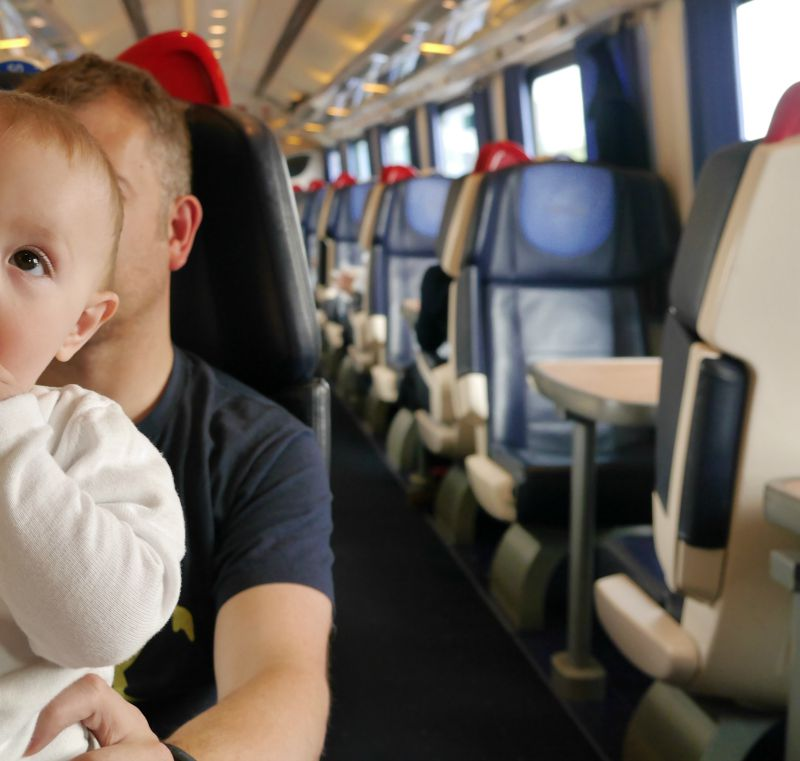 Train travel with babies