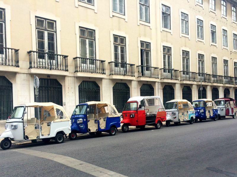Tuktuks in Lisbon