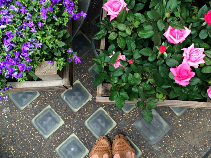 Flower shop outside Liberty, London