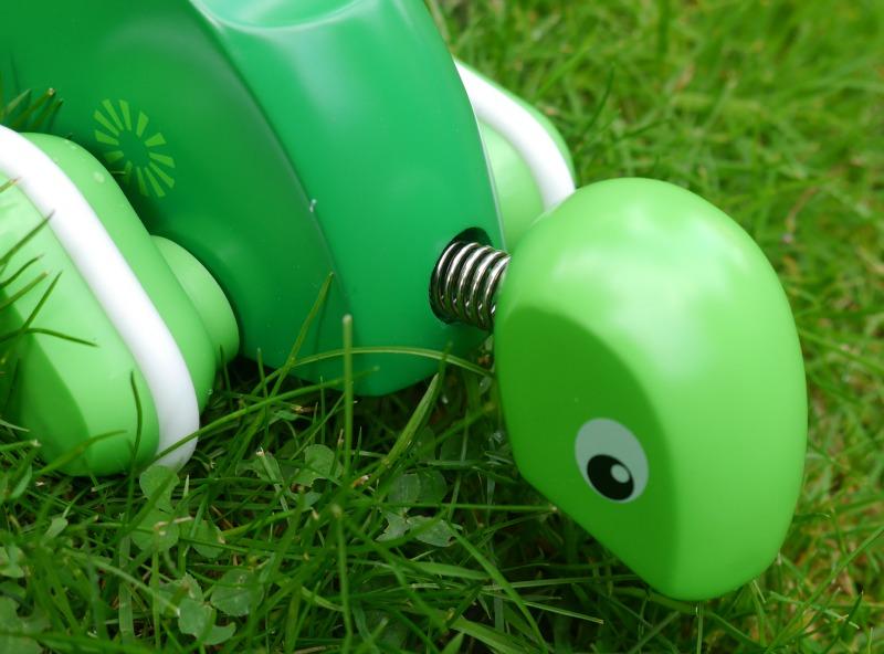 Brio green push along turtle