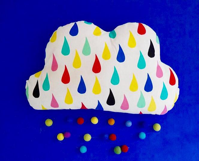 Raincloud cushion