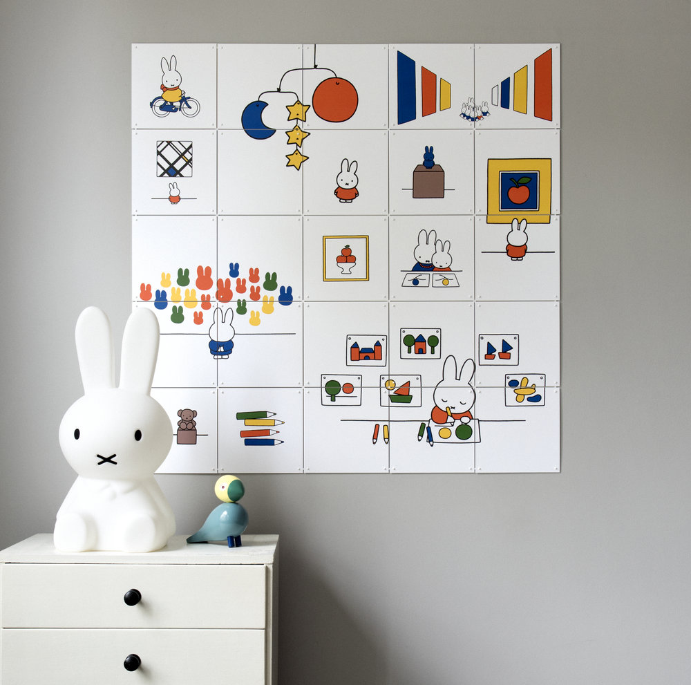 Miffy wall art for children's rooms