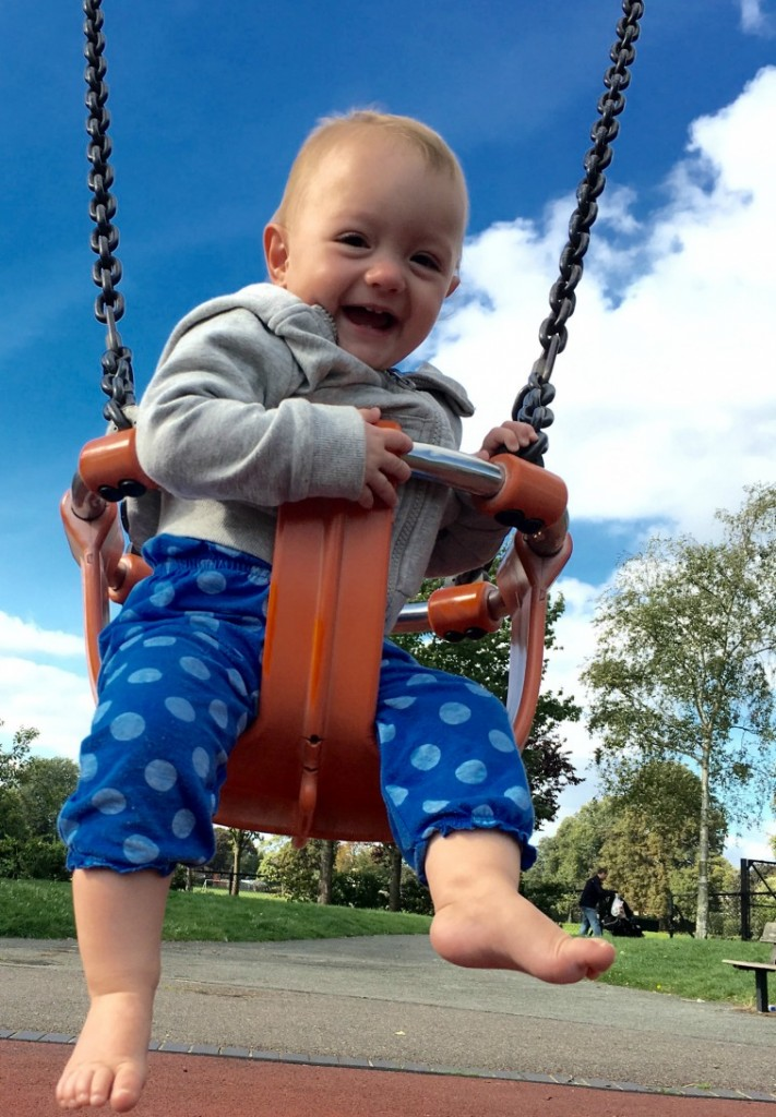 Swinging in the park