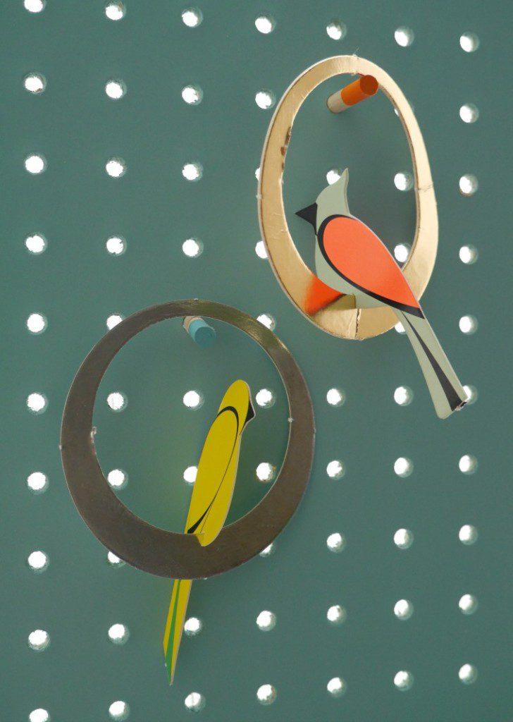 Block Design and bird postcard
