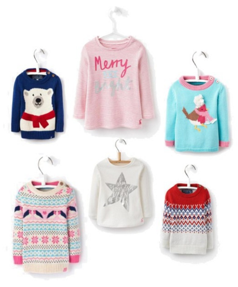 Christmas jumpers for babies and children from Joules