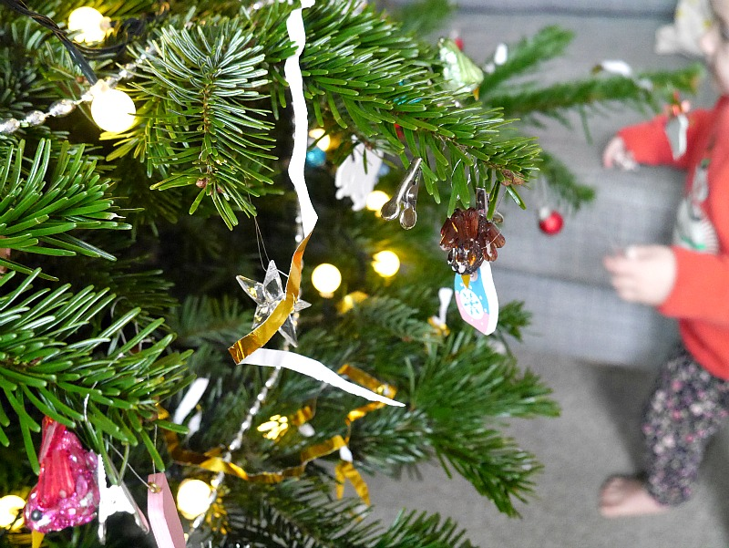Christmas tree and baby