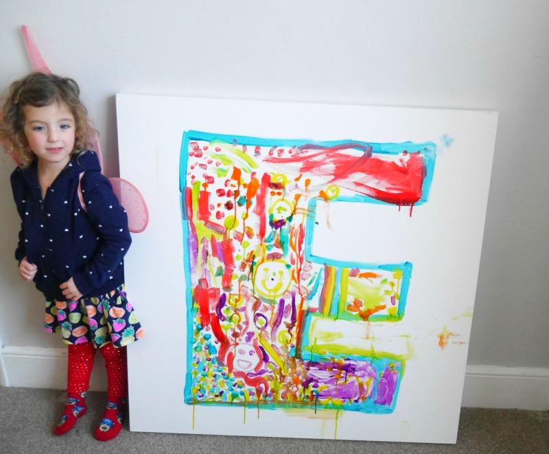 Letter E canvas