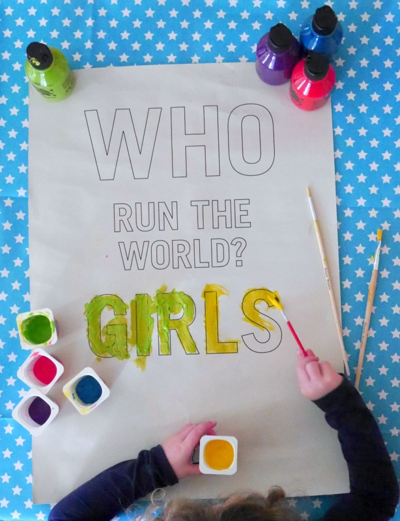 Who run the world girls poster from Go Outside The Lines