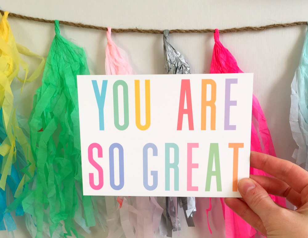 You are so great postcard