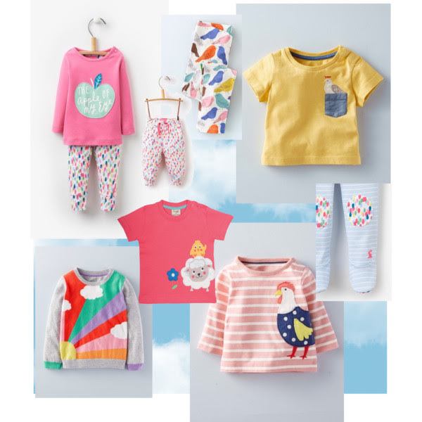 Cheerful children's clothes for spring