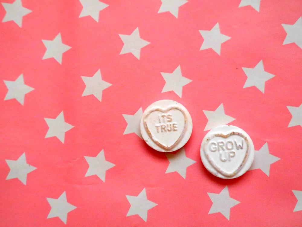 Love Heart sweets - grow up