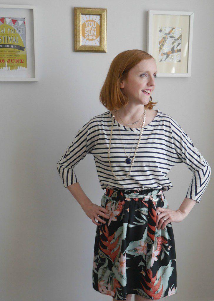 Striped top flowered skirt Oasis Boden