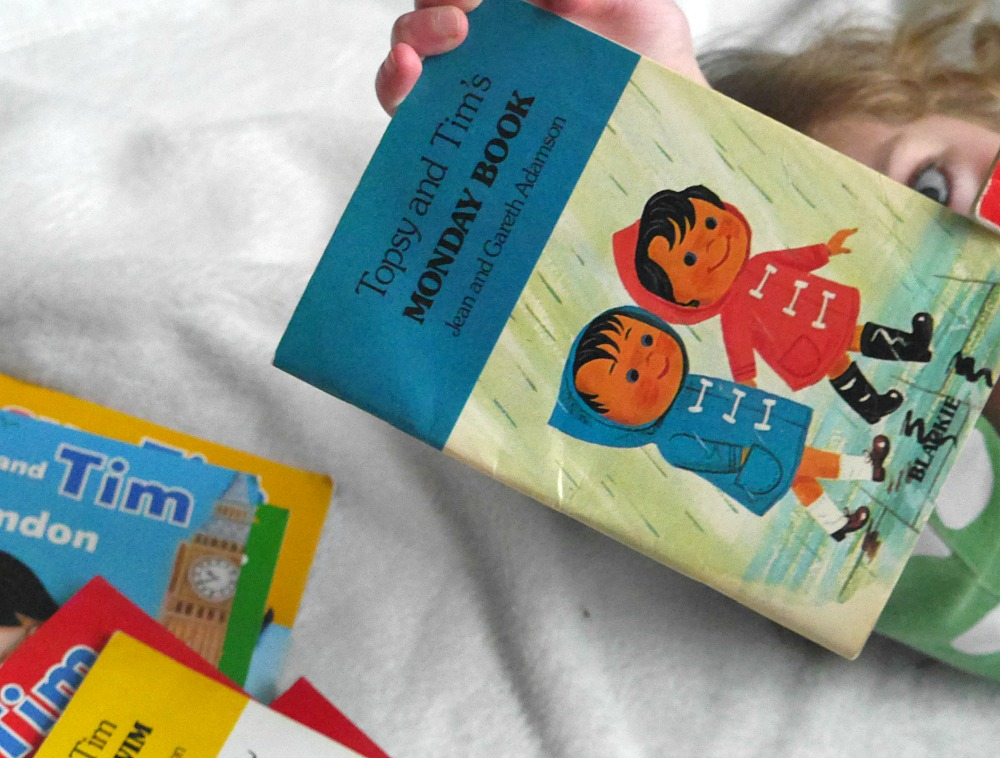 Topsy and Tim's Monday book pile