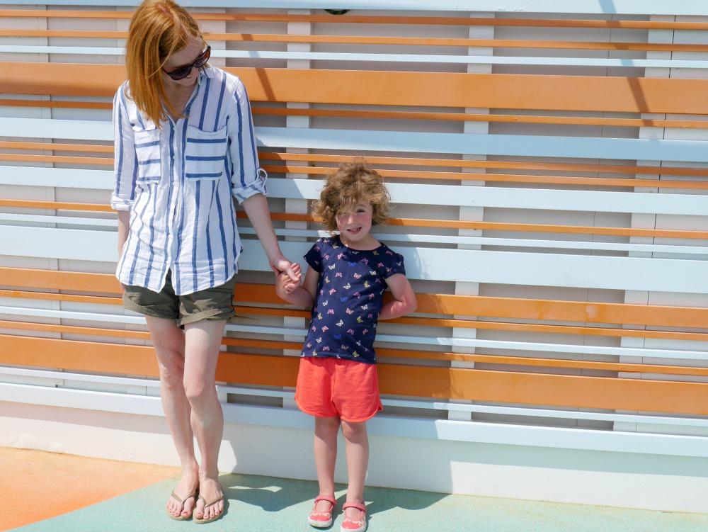 Orange striped wall