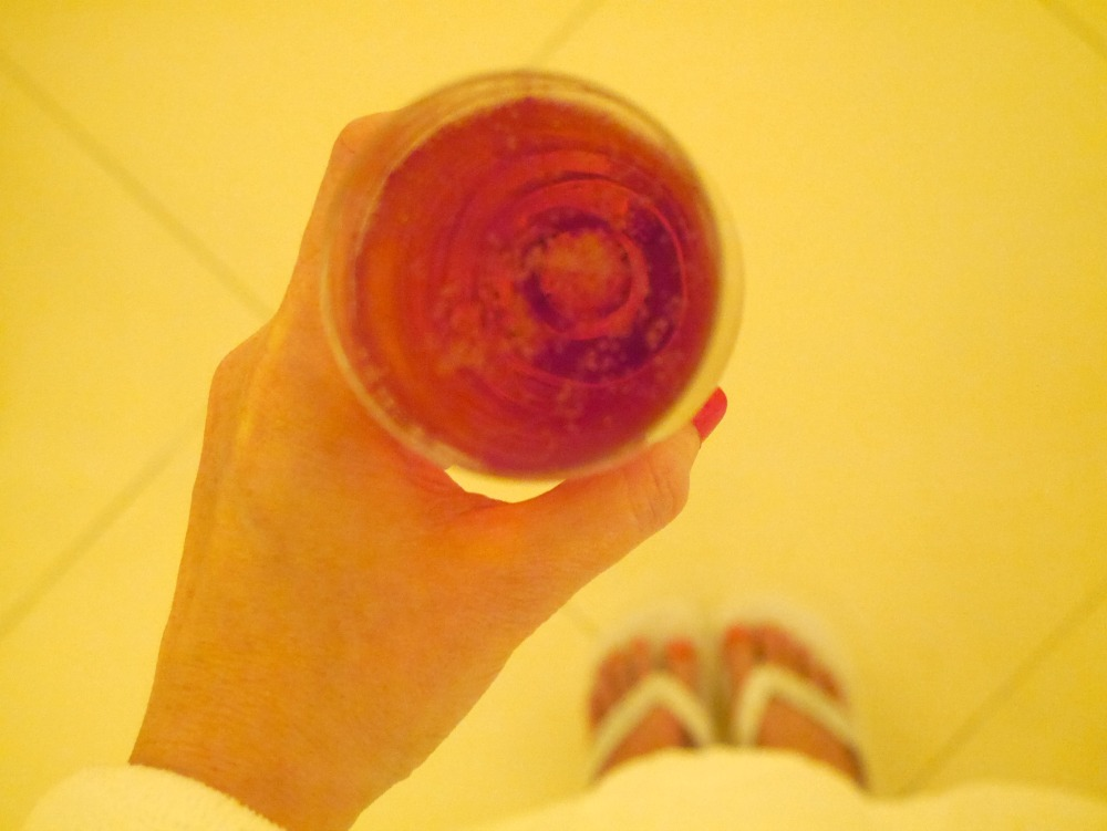 Rose champagne at The Dorchester Spa