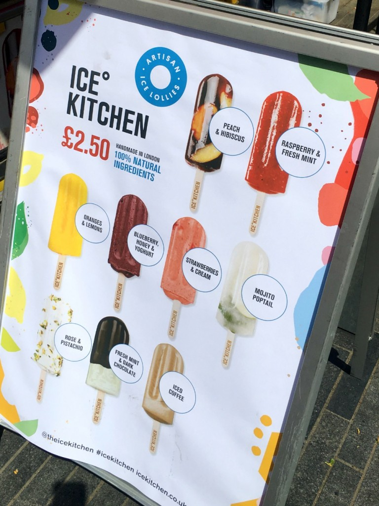 Ice lollies at The Southbank, London