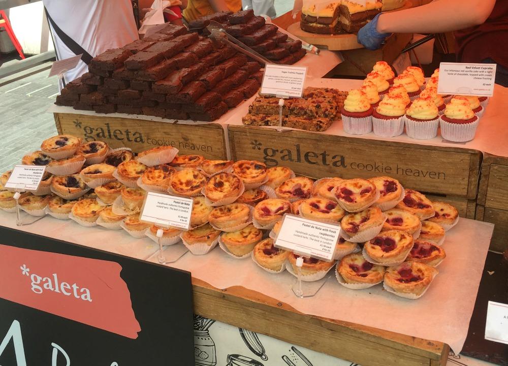 Pastel del nata, street food, London
