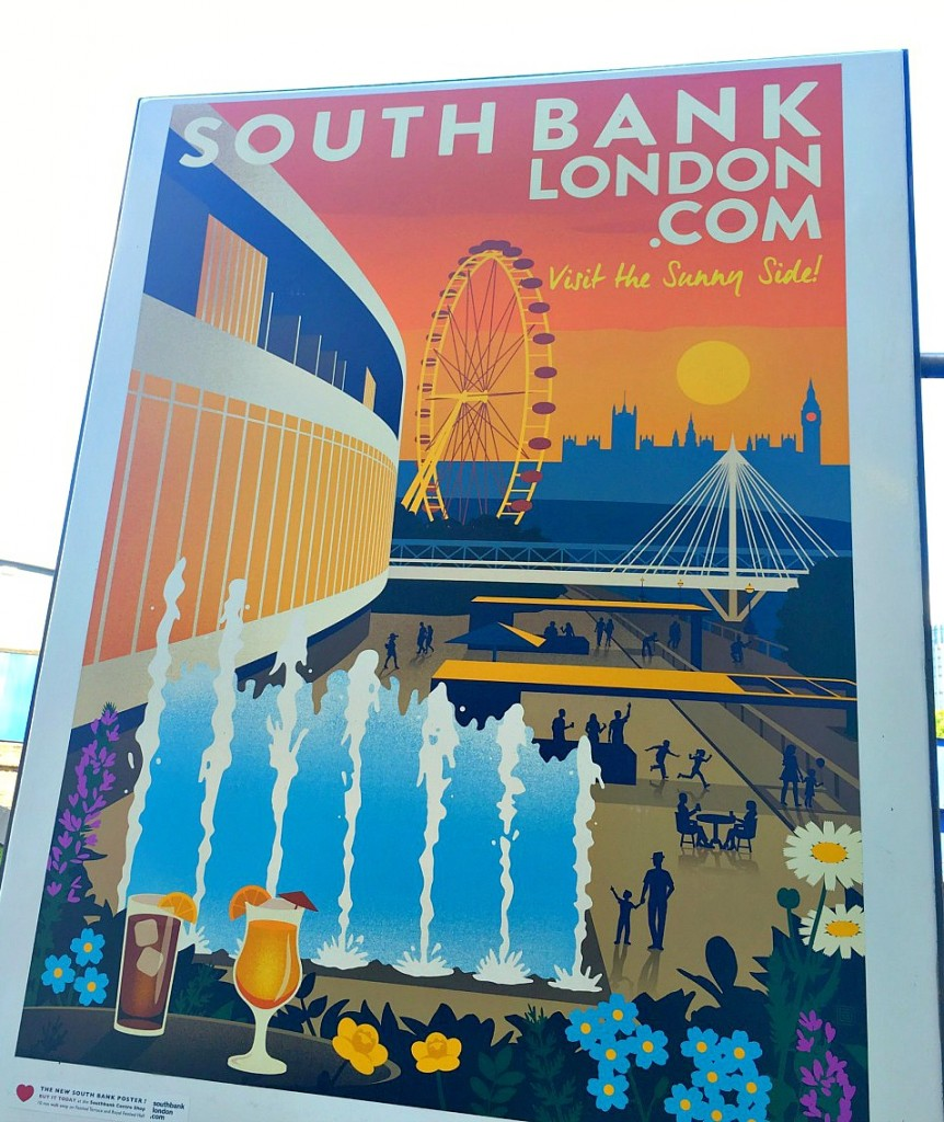The Southbank sunny side poster, London