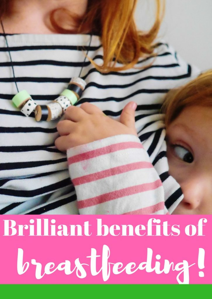 Brilliant breastfeeding benefits - the unexpected benefits of breast feeding. Make sure you read this post about baby feeding if you're pregnant or a new mum!
