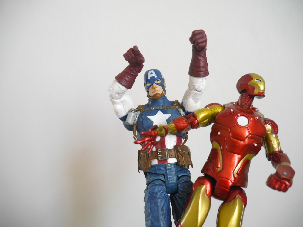 Iron Man and Captain America Toy figures