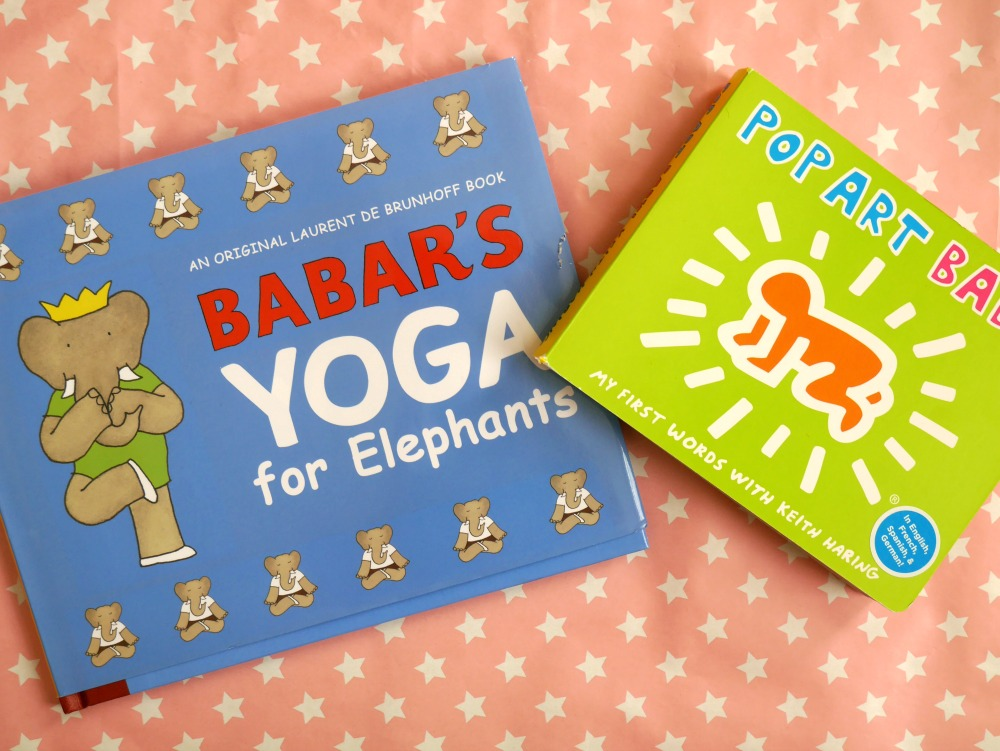 Good books for two-year-olds - Babar's yoga for Elephants and Pop Art Baby