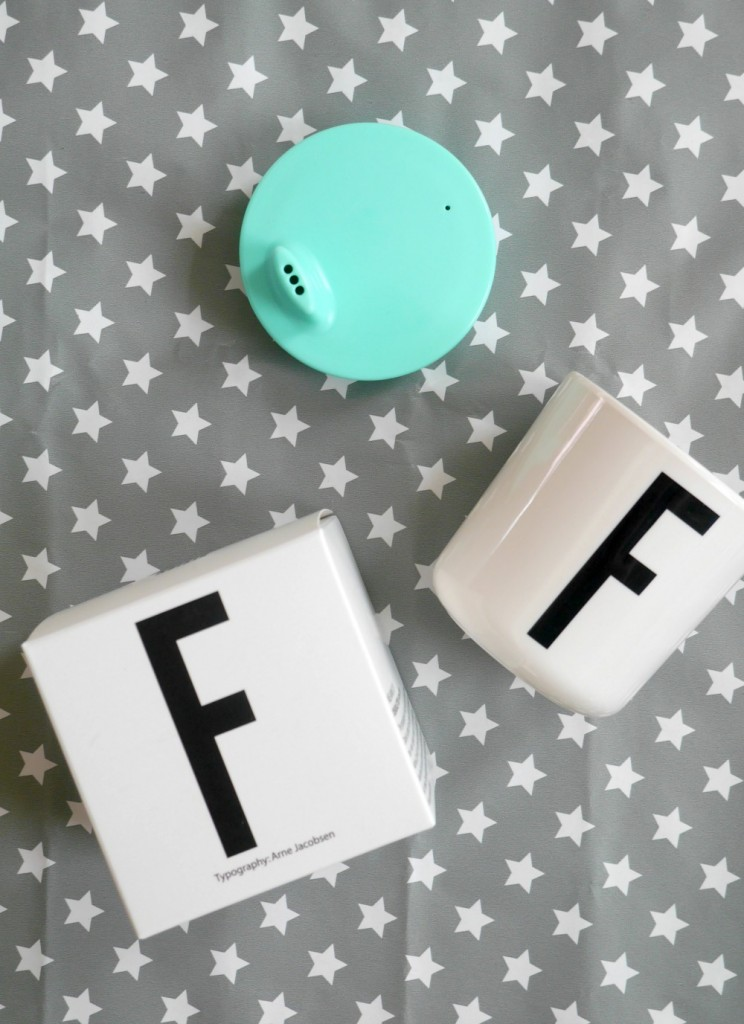 Presents for two-year-olds - Design Letters initial F cup with toddler lid