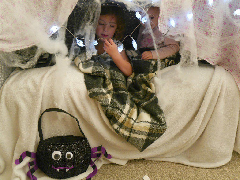Building a sofa den for Halloween