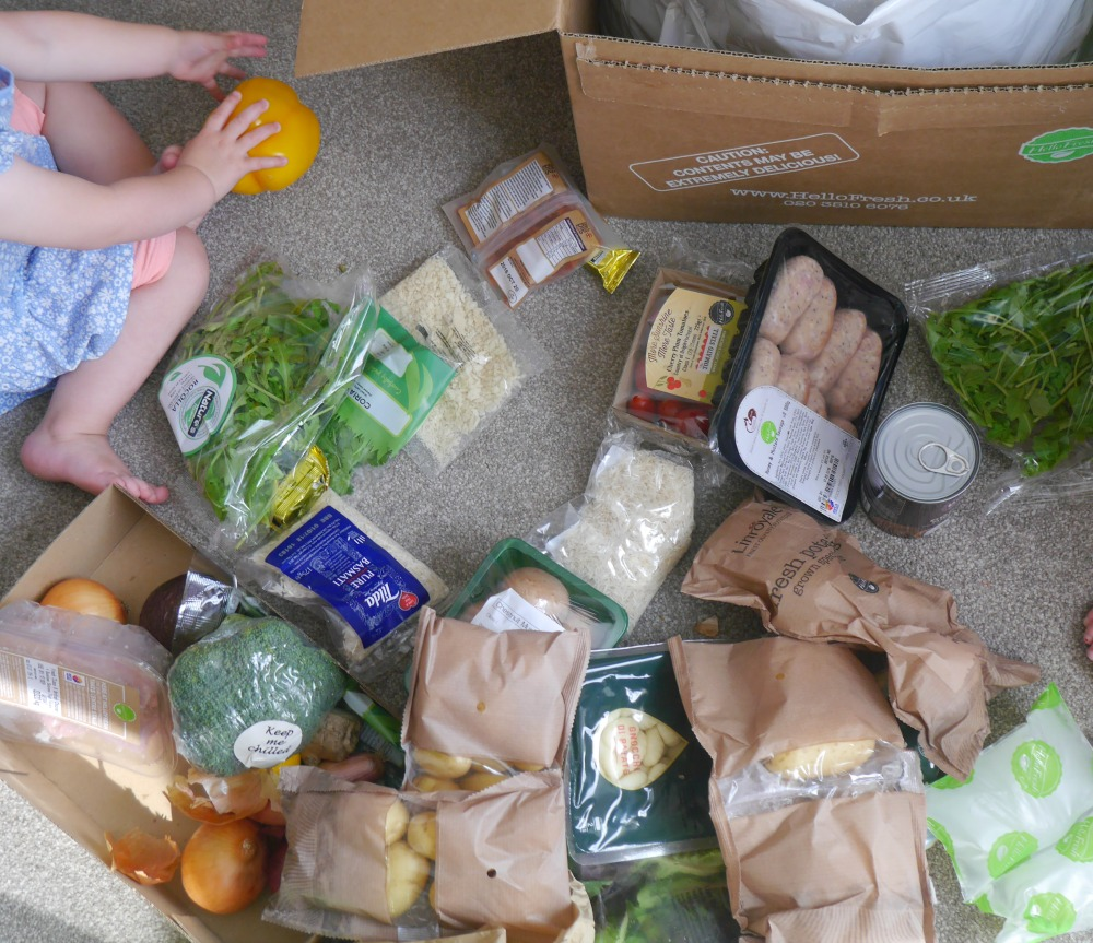 Hello Fresh review - opening the food box and recipes