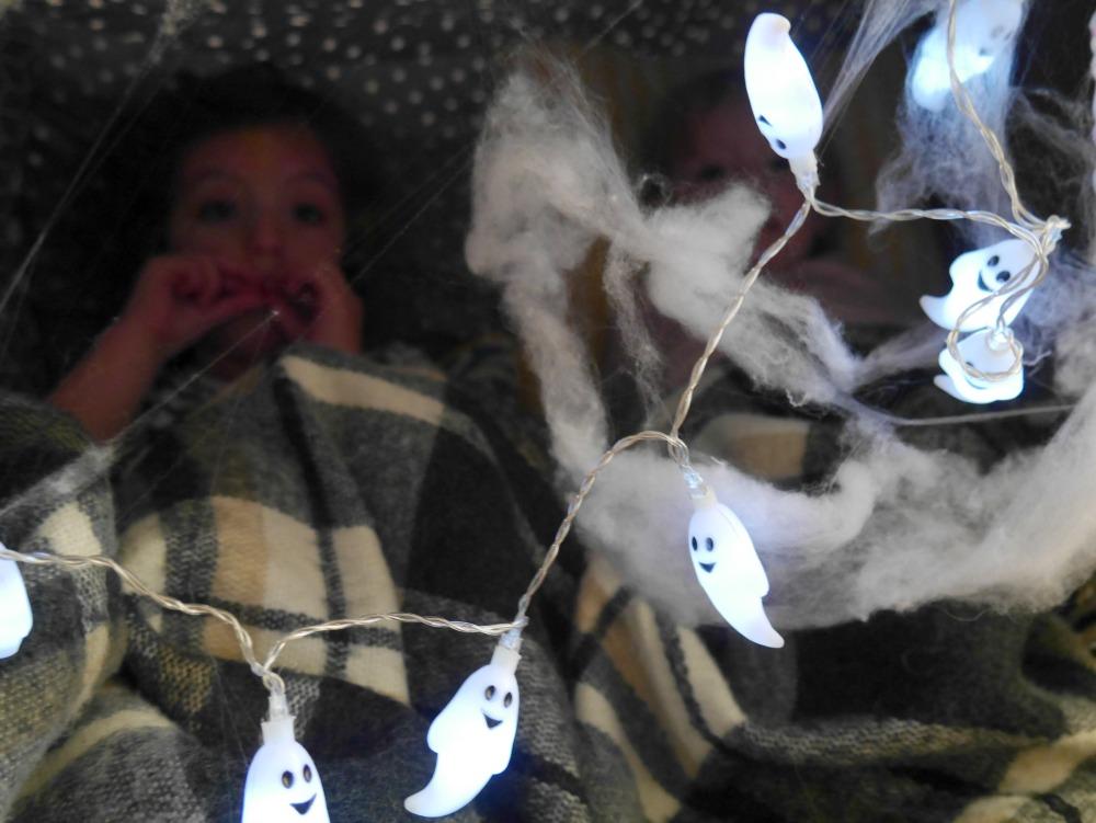 Making a Halloween Half Term sofa den