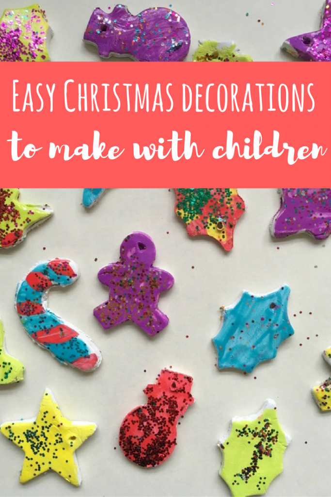How to make easy christmas decorations with children a for Simple christmas decorations to make