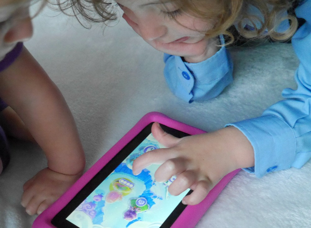 Playing with new Barbie Dreamtopia app on Kindle Fire