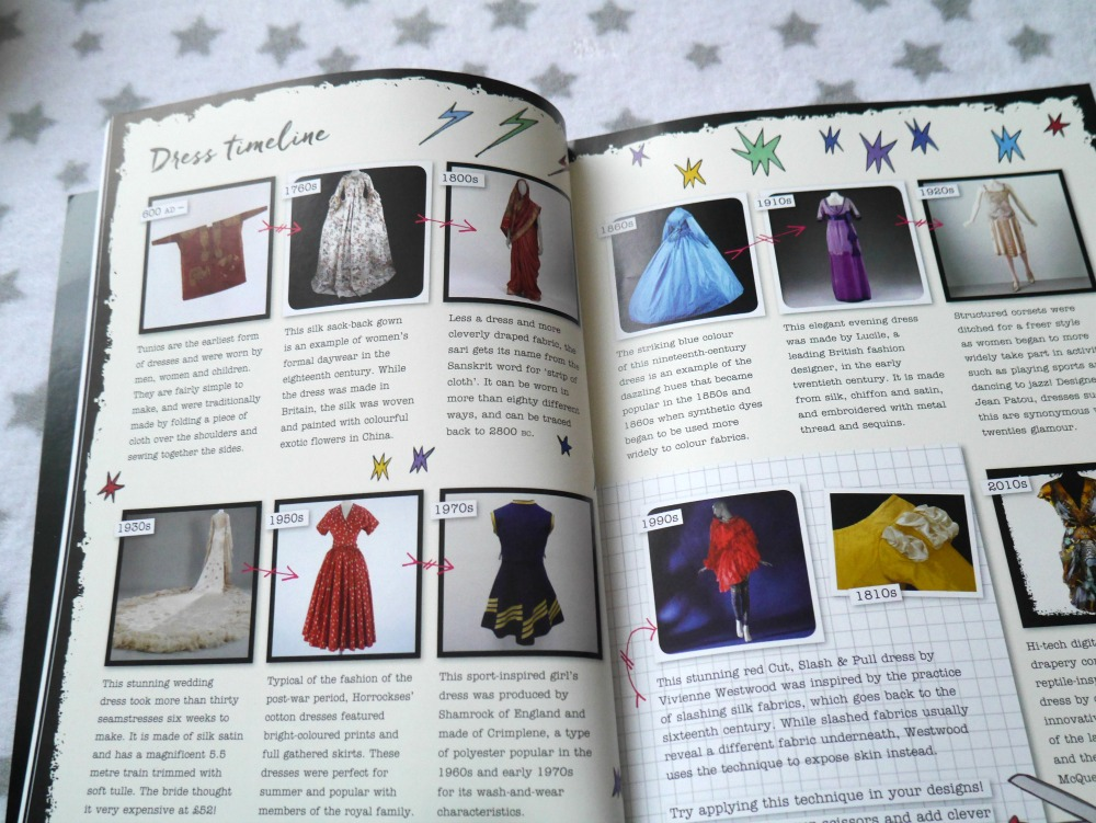 V&A fashion mash-up book - clothes timelines