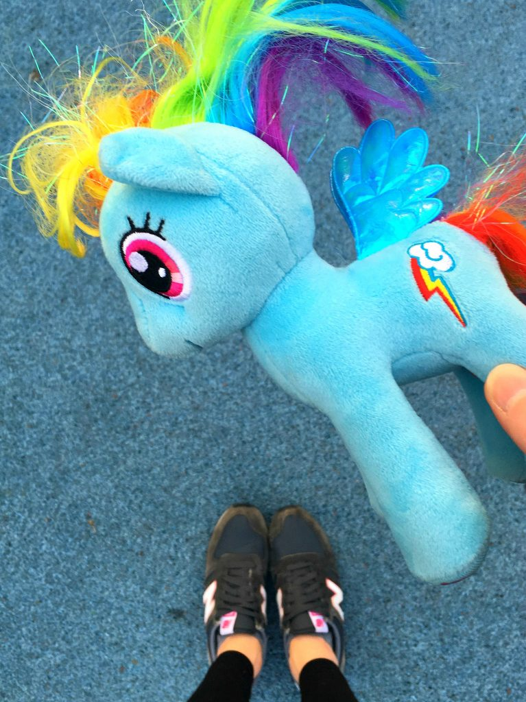 How not to lose your child's favourite toy, or the tale of Rainbow Dash the My Little Pony that went missing
