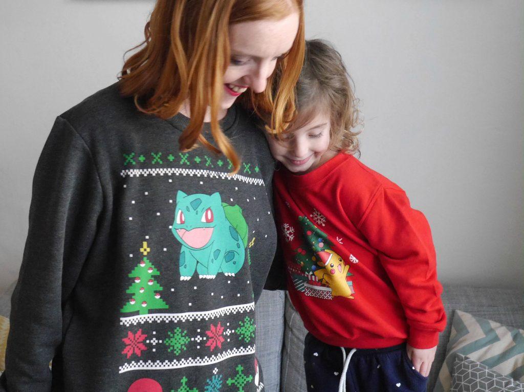 Pokemon Christmas jumpers - Bulbasaur and Pikachu
