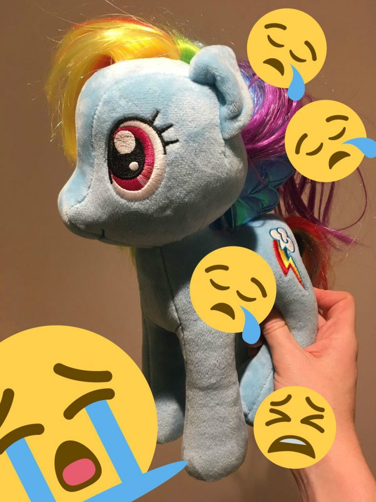 Sad giant My Little Pony Rainbow Dash
