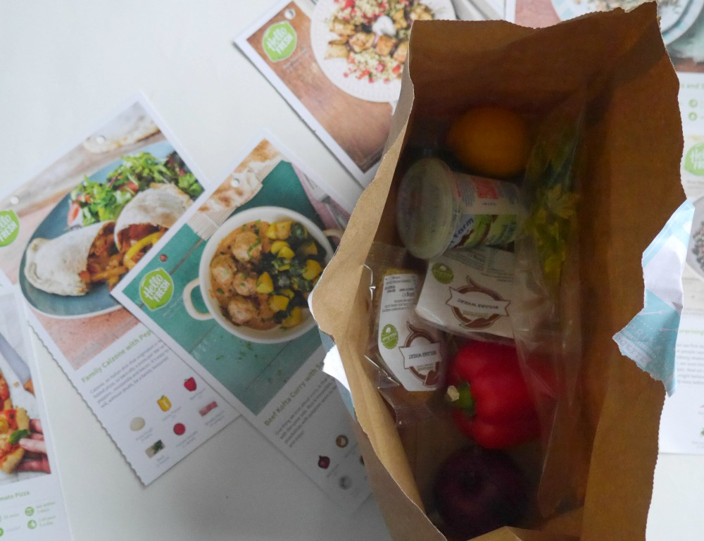HelloFresh delivery boxes - Dinner Time Challenge - ingredients and recipes