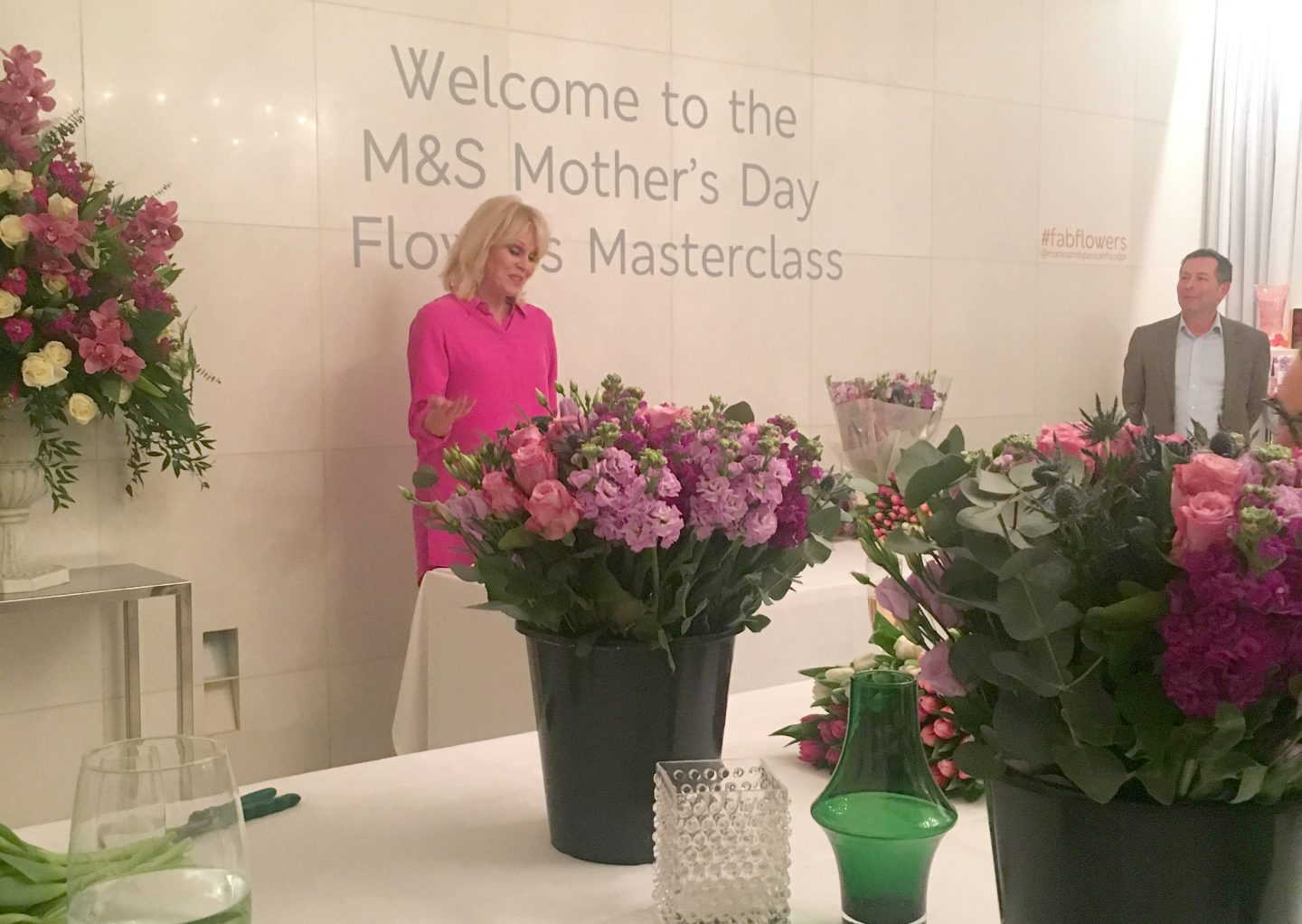 Joanna Lumley - M&S flower arranging masterclass