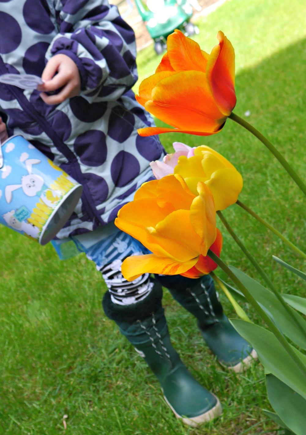 Easter egg hunt - flower clue