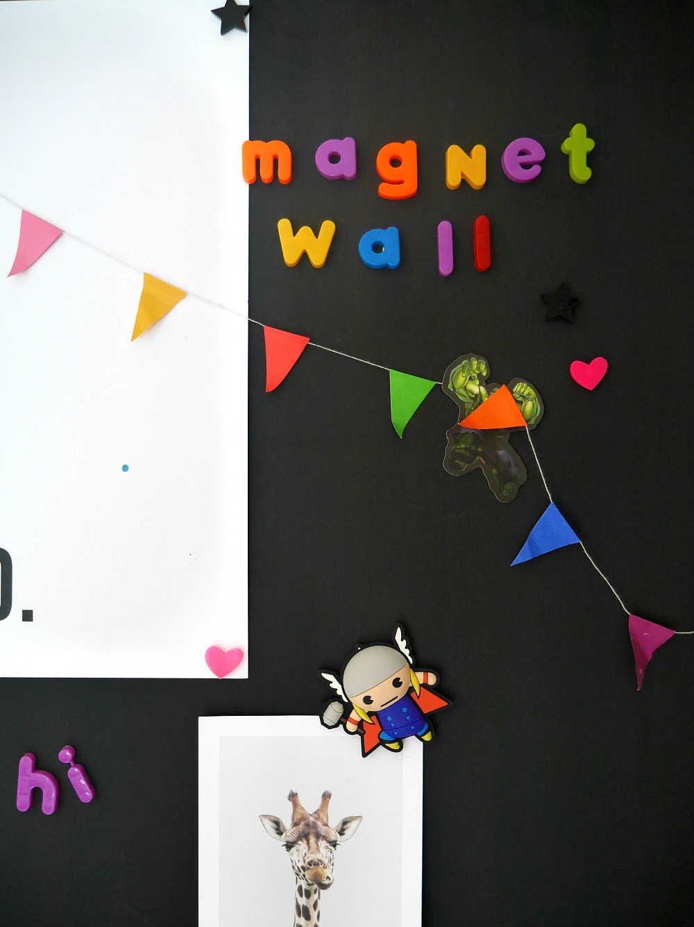 How to make a magnetic chalkboard wall with paints - perfect for children's bedrooms and kitchens