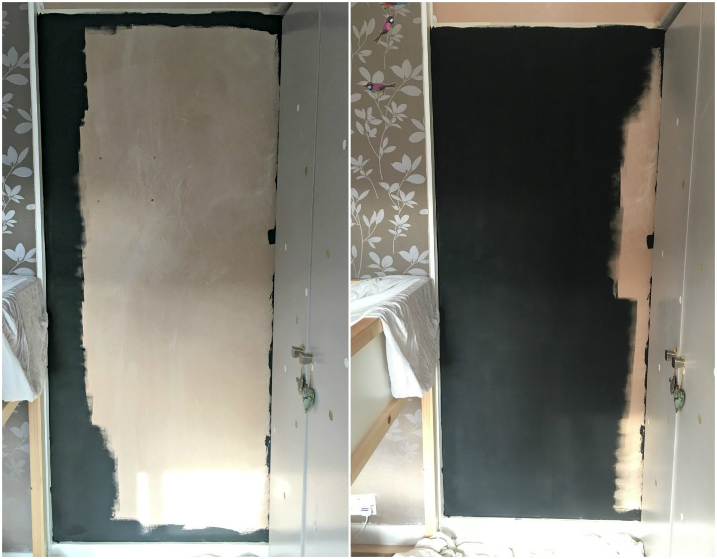 How to make a magnetic chalkboard wall - work in progress