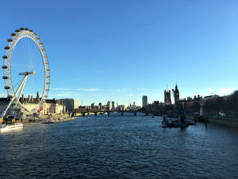 London Eye and Westminster Bridge