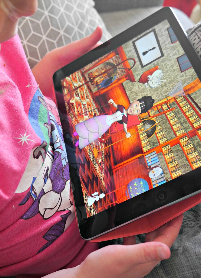 Miss Gadish in The Library of Miss Gadish interactive iPad game for children