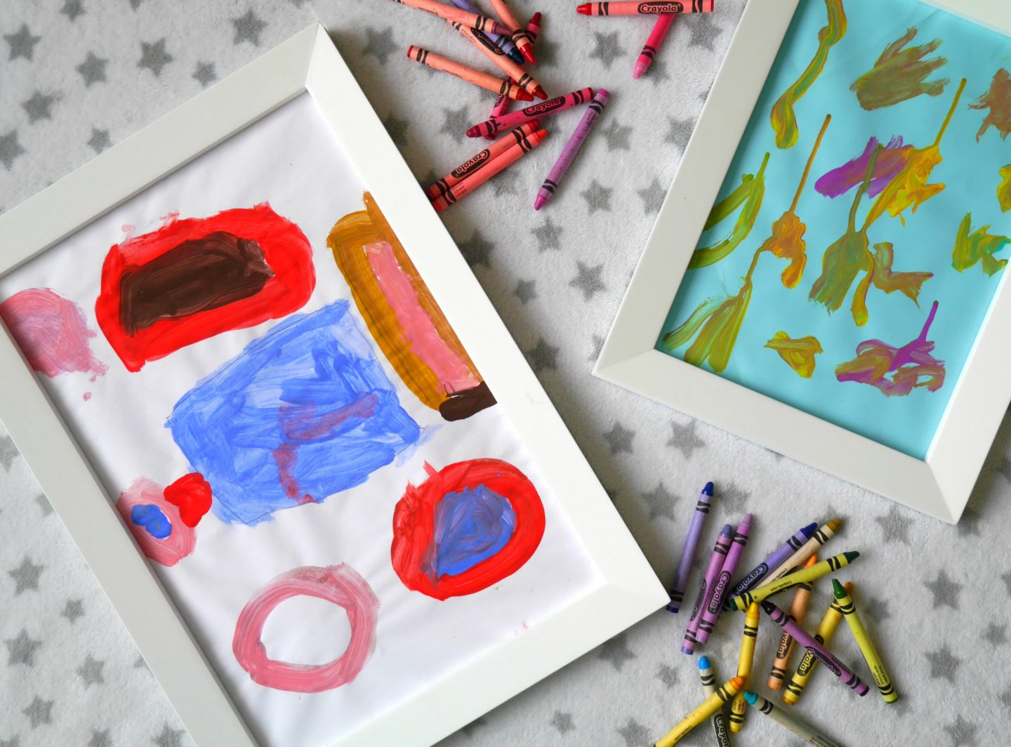 Magnetic picture frames from GLTC to display children's art