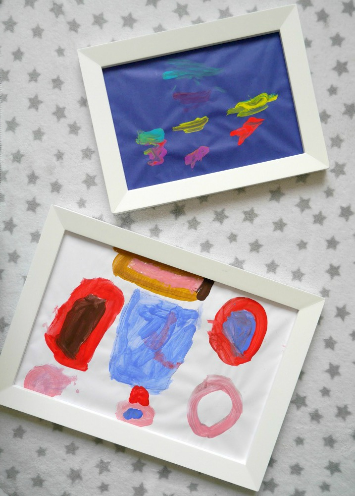 Magnetic picture frames from Great Little Trading Company - perfect for displaying children's art work in your home