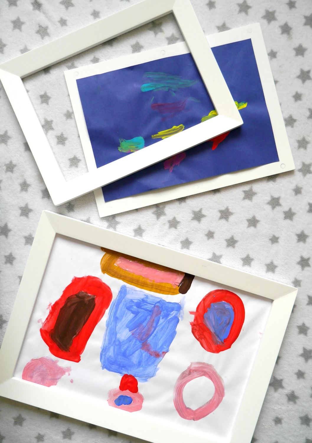 Magnetic picture frames from GLTC - a clever way to display children's art work around the house