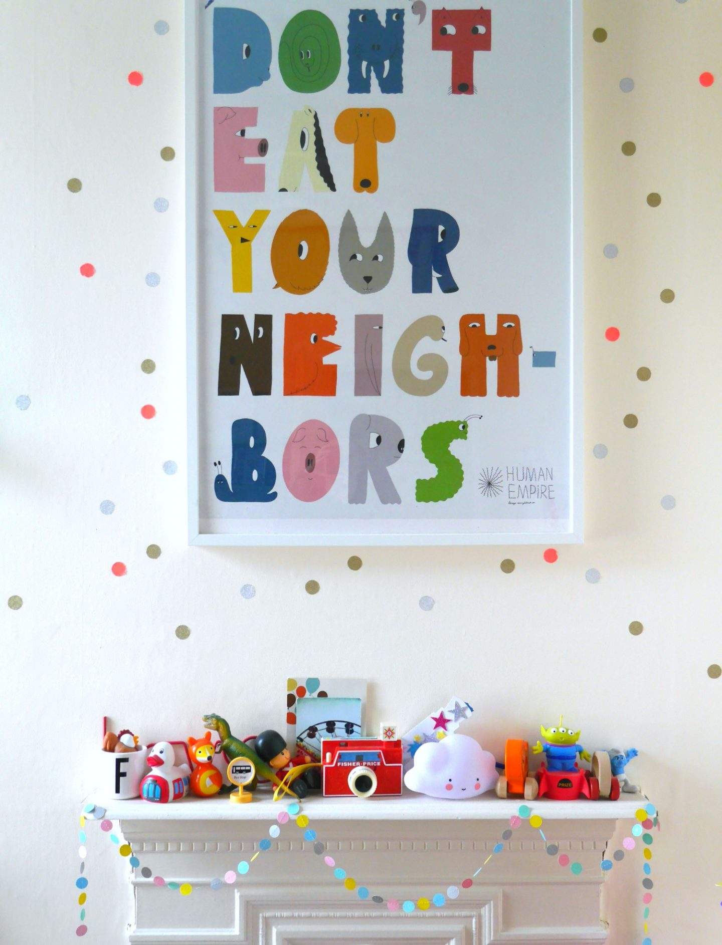 How to make DIY wall stickers for children's rooms - a really easy method using colourful washi tape! Perfect for children's rooms and very cheap, too